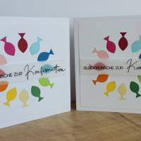"""Glückwunschkarte für Konfirmation oder Kommunion """"Regenbogenfische"""" aus der Manufaktur Karla Bild 6"""