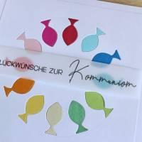 """Glückwunschkarte für Konfirmation oder Kommunion """"Regenbogenfische"""" aus der Manufaktur Karla Bild 7"""