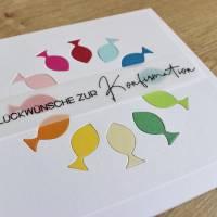 """Glückwunschkarte für Konfirmation oder Kommunion """"Regenbogenfische"""" aus der Manufaktur Karla Bild 8"""