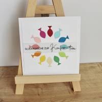 """Glückwunschkarte für Konfirmation oder Kommunion """"Regenbogenfische"""" aus der Manufaktur Karla Bild 9"""
