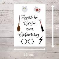 Harry Potter Geburtstagskarte mit Umschlag als sofort Download, PDF zum ausdrucken Bild 3