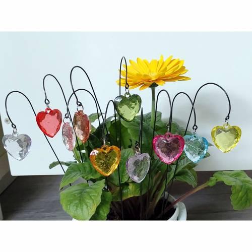 Kleine Herz Blumenstecker in 11 Farben