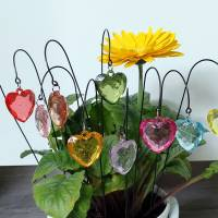 Kleine Herz Blumenstecker in 11 Farben Bild 1