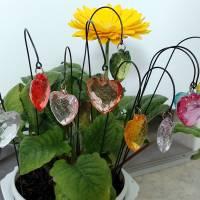 Kleine Herz Blumenstecker in 11 Farben Bild 2