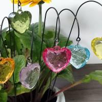 Kleine Herz Blumenstecker in 11 Farben Bild 3