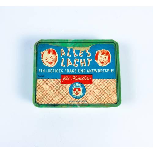 Kartenspiel, Scherzkarten, 60 Frage und 60 Antwortkarten, vollständig, benutzt, Retro, Alles Lacht von Schmid Spielkarte