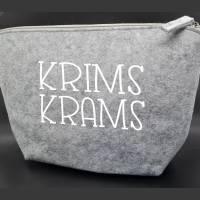 Kulturbeutel *KRIMSKRAMS* die kleine Filztasche für die Handtasche Bild 1