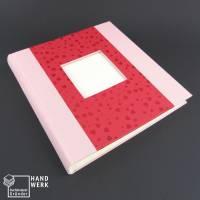 Fotoalbum, rosa rot, Herzen, 25 x 24,5 cm, 60 Seiten Bild 1