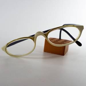 Retro Brille, Vintage Brille wie in den  Fiffites, mit optischen Gläser, der Hersteller ist unbekannt, gebraucht Bild 1