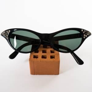 Retro Brille, Linda Farrow Modell HY1821, Vintage Brille  Fiffites, keine optischen Gläser, mit kleinen Straßsteinen Bild 1