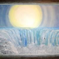 Wilde Wasser – majestätisch und atemberaubend - Original Ölmalerei, gerahmt Bild 1