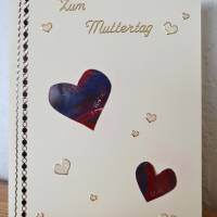 Karte mit Herzchen zum Muttertag – Design  Ulrike Kröll Bild 1