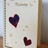 Karte mit Herzchen zum Muttertag – Design  Ulrike Kröll Bild 2