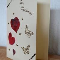 Grußkarte mit Herz zum Muttertag - handgefertigt Bild 2