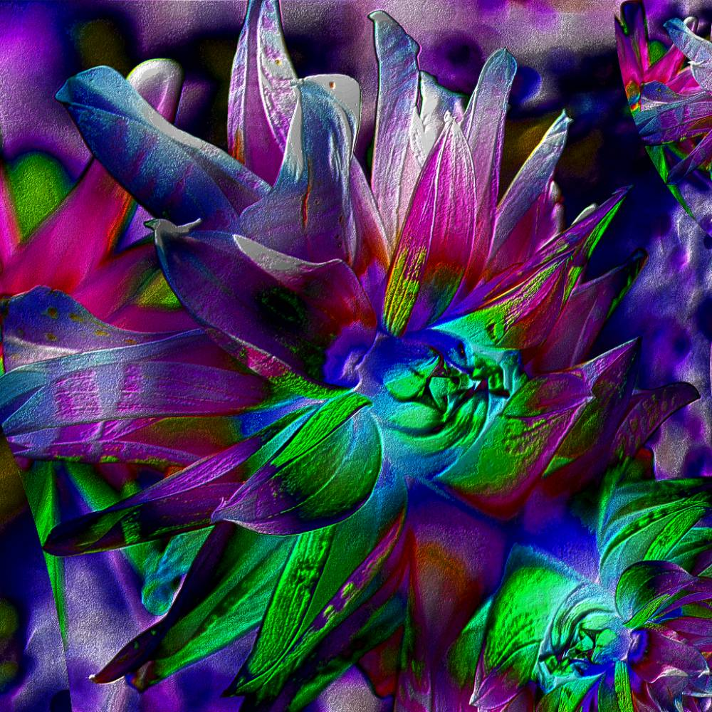 Blütenimpressionen strukturiert - Digital-ART - Kunstwerk 1/10 – Design  Ulrike Kröll Bild 1