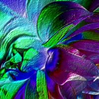 Blütenimpressionen strukturiert - Digital-ART - Kunstwerk 1/10 – Design  Ulrike Kröll Bild 3