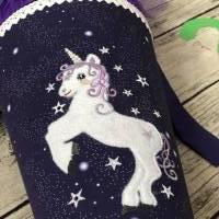 zauberhafte Schultüte in Lila mit Einhorn Tüll und Glitzer Bild 4