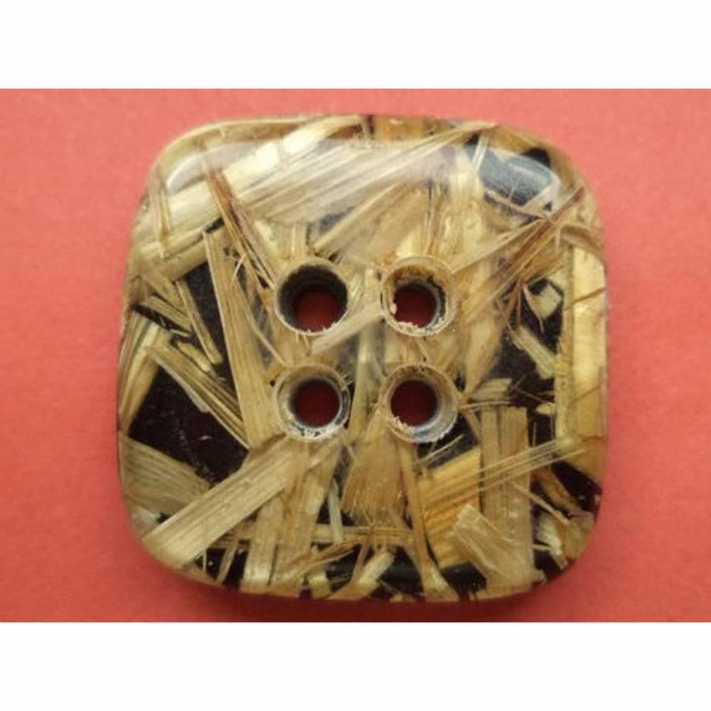 Knöpfe 24mm beige (5457) quadratisch viereckig Bild 1