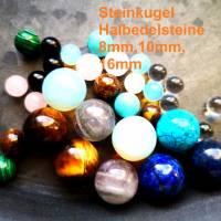 Kugel, Schmuckkugel, Halbedelstein,8mm,  10mm,16mm,Opal, Türkis, Lapis Lazuli, Tigerauge, Achat, Malachit, Quarz Bild 1