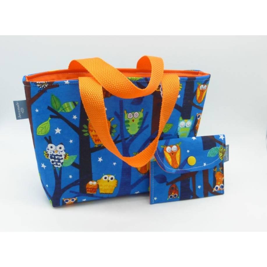 Kindertasche Eulenwald + Geldbeutel, Unikate von hessmade Bild 1
