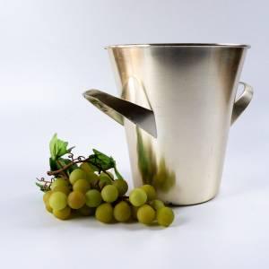 Sektkühler von WMF, Entwurf Wilhelm Wagenfeld, Vintage Weinkühler, versilbert Bild 2