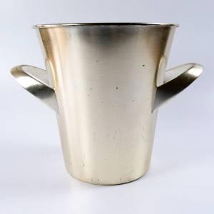 Sektkühler von WMF, Entwurf Wilhelm Wagenfeld, Vintage Weinkühler, versilbert Bild 5