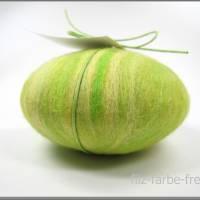 Filzseife 200g Olive+Lemongras, Seife umfilzt, Seife eingefilzt,  Pflanzenölseife, Geschenk, Muttertag, Speick Bild 2