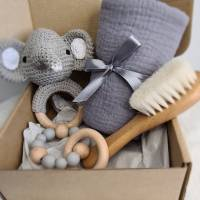 "Geschenk Set zur Geburt ""Elefant Kaori"", Baby Party Geschenkebox, Geschenkebox für Baby, Geschenk zur Taufe Bild 3"