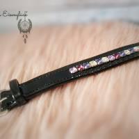 Lederarmband mit Swarovski Elements 24 cm Armband Accessoires Geschenk  Bild 2