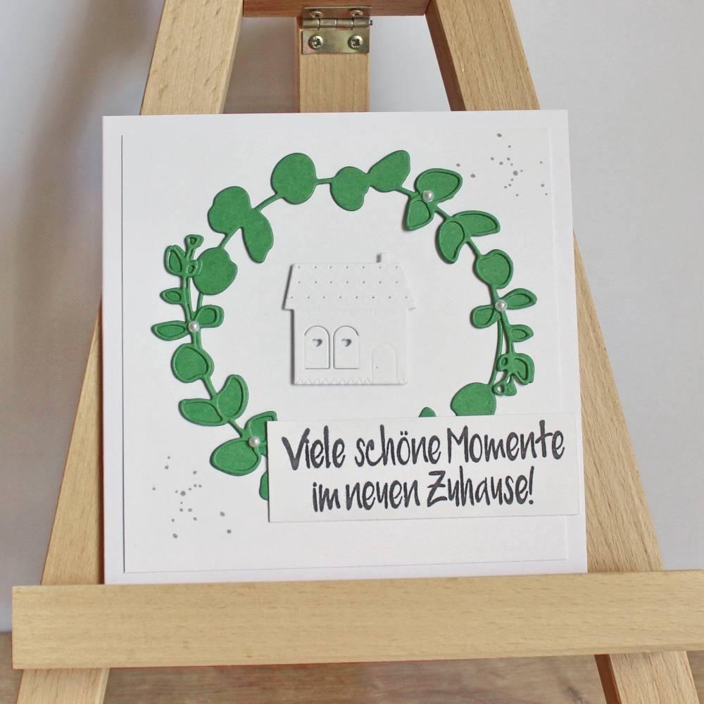 """Grußkarte Glückwunschkarte zum Einzug """"Momente"""" aus der Manufaktur Karla Bild 1"""