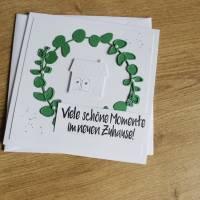 """Grußkarte Glückwunschkarte zum Einzug """"Momente"""" aus der Manufaktur Karla Bild 3"""