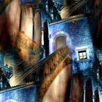 Palma de Mallorca - Pueblo Español - Palacio de la Diputación 2 - Digital-ART - Kunstwerk 1/10 - Design  Ulrike Kröll Bild 1
