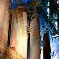 Palma de Mallorca - Pueblo Español - Palacio de la Diputación 2 - Digital-ART - Kunstwerk 1/10 - Design  Ulrike Kröll Bild 2