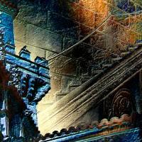 Palma de Mallorca - Pueblo Español - Palacio de la Diputación 2 - Digital-ART - Kunstwerk 1/10 - Design  Ulrike Kröll Bild 3