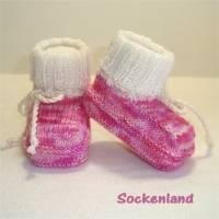 Babyschuhe, Babystiefel, Babybooties, Krabbelschuhe, pink-rosa, Einzelpaar Bild 1