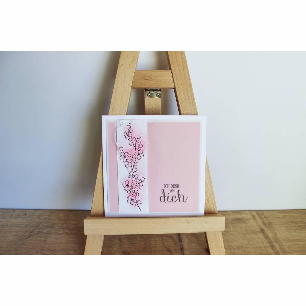 """Grußkarte Glückwunschkarte """"Kirschblüte"""" aus der Manufaktur Karla Bild 1"""