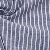 Leinen-Baumwolle Streifen Blau Bild 1