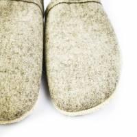 Hausschuhe aus 100% Wollfilz und Ledersohle  Bild 5