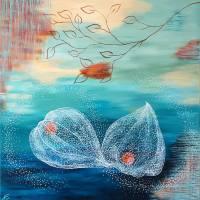 """""""The Breeze"""" 80 x 80 cm Acrylbild  Bild 1"""