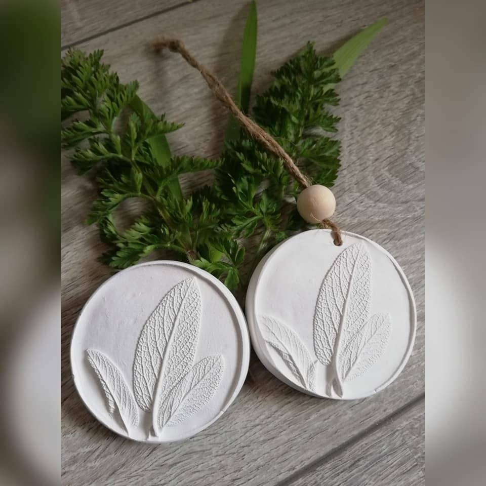 Duftstein Aromastein Duftpender Duftanhänger DUFTTALER Natur Pflanzen Salbei Bild 1