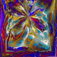 Urknall - Digital-ART - Kunstwerk 1/10 - 70 cm x 70 cm - Design  Ulrike Kröll Bild 1