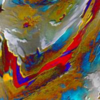 Urknall - Digital-ART - Kunstwerk 1/10 - 70 cm x 70 cm - Design  Ulrike Kröll Bild 4