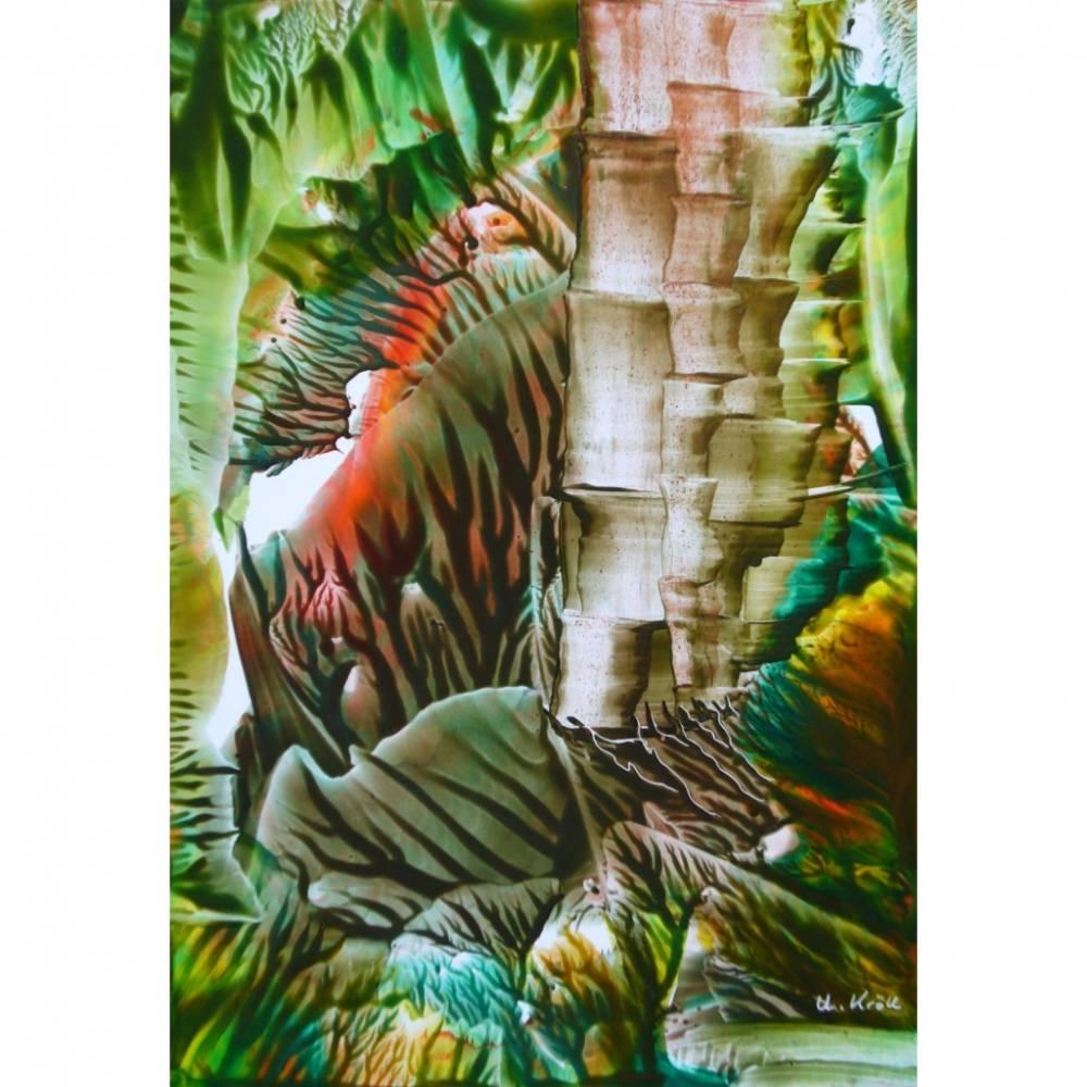 """Kunst–Postkarte - """"Bambus""""  Bild 1"""
