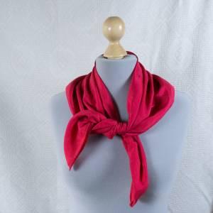 Halstuch Klassisches Vintage Halstuch, Tuch aus Seide für Damen, Seidentuch, getragen, 1980 und 1990er Jahre, Midcentury Bild 1