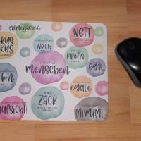 Mousepad / Mauspad mit Sprüchen Watercolor Bild 3