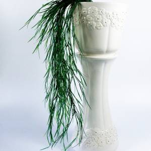 Bay, Blumensäule und Übertopf, Fat Lava Glasur, Vintage, 1970er, Midcentury Keramik, WGP,  Bodenmarke Topf 753/22, Säule Bild 1