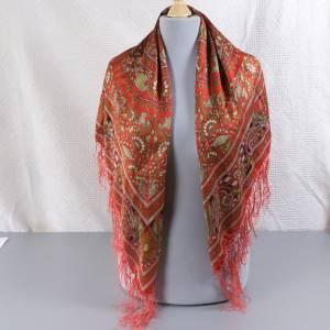 Halstuch, Klassisches Vintage Halstuch, Tuch aus Seide für Damen, Seidentuch, getragen, 1980 und 1990er Jahre, Midcentur Bild 2