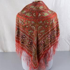 Halstuch, Klassisches Vintage Halstuch, Tuch aus Seide für Damen, Seidentuch, getragen, 1980 und 1990er Jahre, Midcentur Bild 3