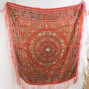 Halstuch, Klassisches Vintage Halstuch, Tuch aus Seide für Damen, Seidentuch, getragen, 1980 und 1990er Jahre, Midcentur Bild 6