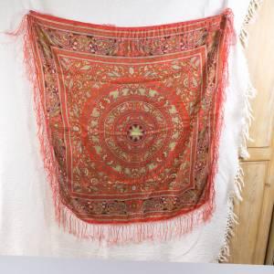 Halstuch, Klassisches Vintage Halstuch, Tuch aus Seide für Damen, Seidentuch, getragen, 1980 und 1990er Jahre, Midcentur Bild 7